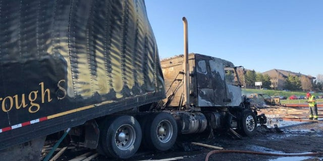 Several people died Thursday in a fiery crash involving multiple vehicles and three semitrailers.