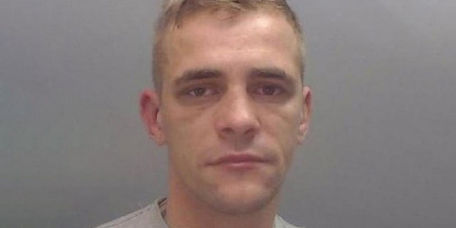 Daniel Ward, 26, was sentenced to 13 years in prison after biting an officer's ear in December.