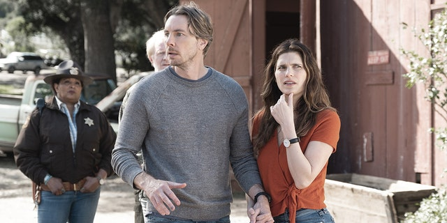 """Dax Shepard spoke to reporters about his new comedy """"Bless This Mess."""""""