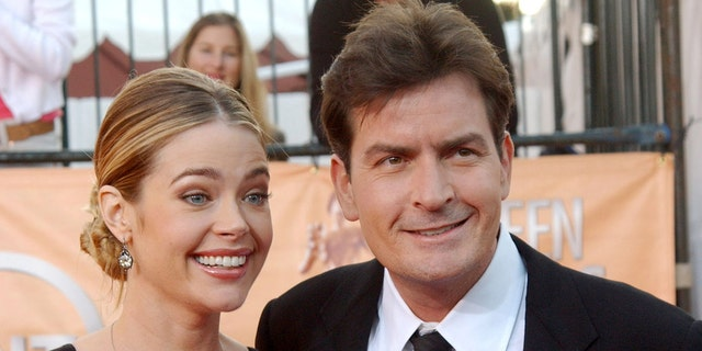 Denise Richards and Charlie Sheen at the 2005 Screen Actors Guild Awards.