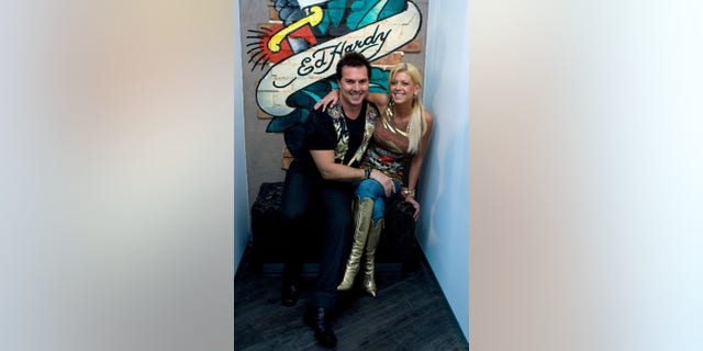 Gary Berman, seen here in 2007 with Tara Reid at the launch of a boutique in Australia, had previously held the rights to the Ed Hardy name in Australia and the U.K., according to his website.