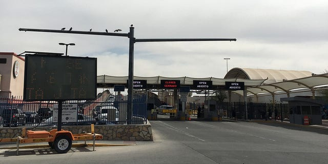 One of 6 ports of entry. Street scene near the border in El Paso