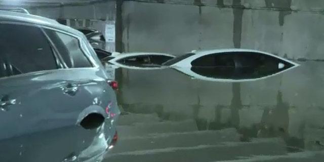 Westlake Legal Group FloodedAirportFox4AP1 Garage floods at Dallas Love Field amid heavy rains, leaves dozens of cars partially submerged Michael Bartiromo fox-news/travel/general/airports fox-news/auto fox news fnc/travel fnc article a3ce92f7-0b19-520d-9da9-eb18d8128885
