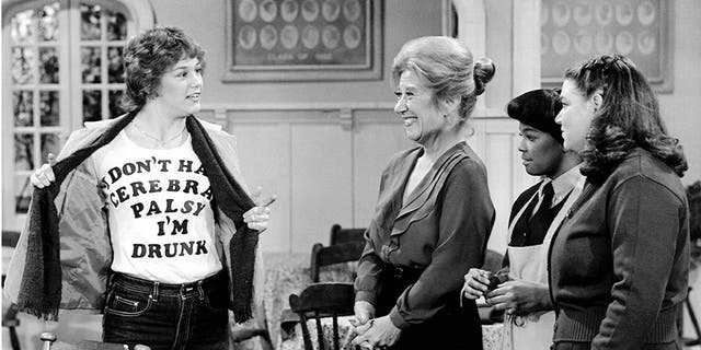 "Geri Jewell (left) starred in the hit sitcom ""The Facts of Life."""