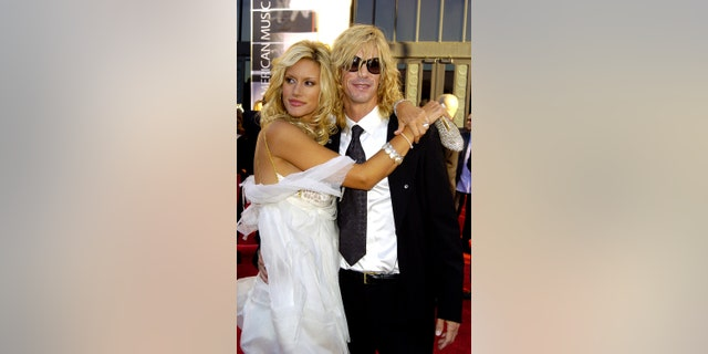 Duff McKagan and wife Susan Holmes during 32nd Annual American Music Awards at Shrine Auditorium in Los Angeles.