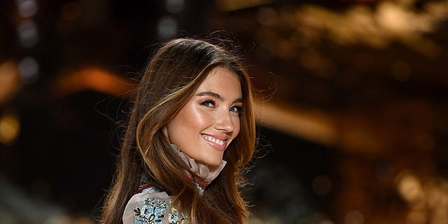 Lorena Rae walks the runway during the 2018 Victoria's Secret Fashion Show at Pier 94 on November 8, 2018, in New York City.