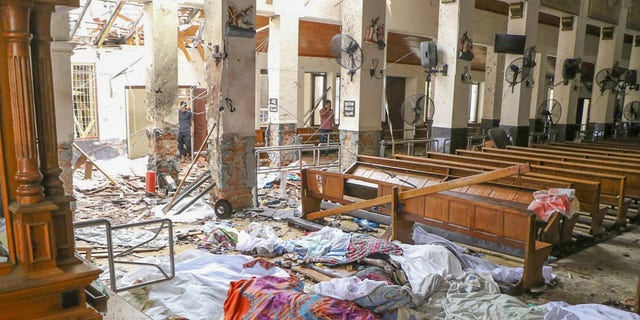COLOMBO, SRI LANKA - APRIL 21: An inside view of the St. Anthony's Shrine after an explosion hit St Anthony's Church in Kochchikade in Colombo, Sri Lanka on April 21, 2019. (Photo by Chamila Karunarathne/Anadolu Agency/Getty Images)
