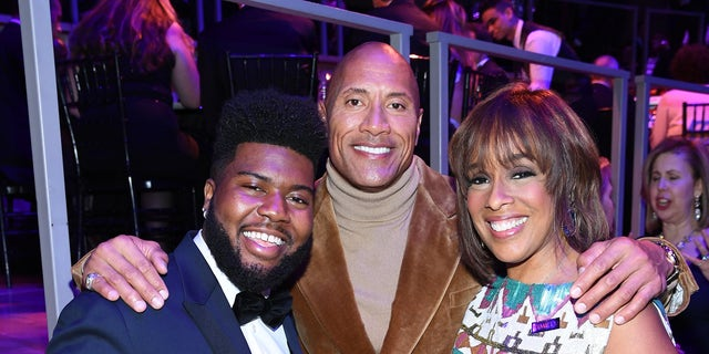 Khalid, Dwayne Johnson and Gayle King attend the TIME 100 Gala 2019 Dinner at Jazz at Lincoln Center on April 23, 2019 in New York City
