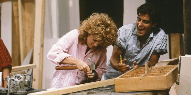 Lisa Whelchel as Blair Warner, George Clooney as George Burnett.