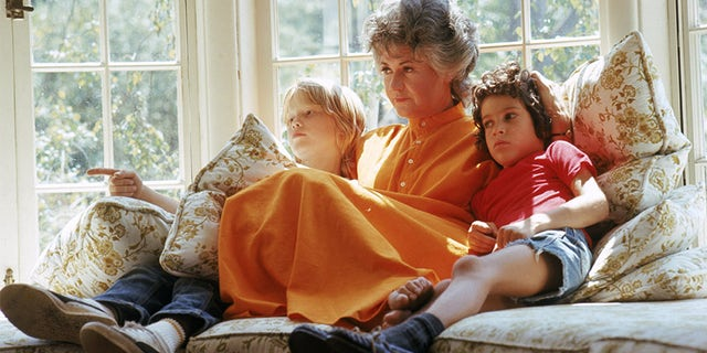 Bea Arthur and family pose for a portrait at her California ranch in 1972. (Photo by Martin Mills/Getty Images)