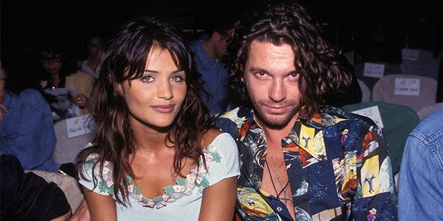 Helena Christensen and INXS singer Michael Hutchence in Paris, circa 1992.