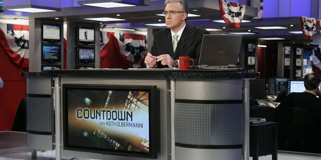 Keith Olbermann reports live from the MSNBC newsroom in New York, New York on January 3, 2008 -- Photo by: Virginia Sherwood/NBC NewsWire