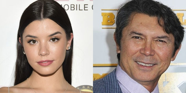 Lou Diamond Phillips (left) said his daughter Gracie Phillips was determined to make it on her own. — Getty