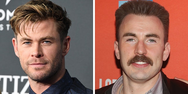 """""""Avengers: Endgame"""" actors Chris Hemsworth (left) and Chris Evans (right) reportedly met about 10 years ago in a club in New York City after the first """"Captain America"""" movie had finished filming, the actors reportedly told People."""