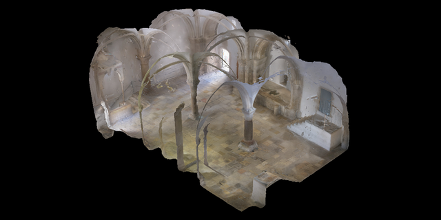 Photogrammetry picture of the Cenacle.