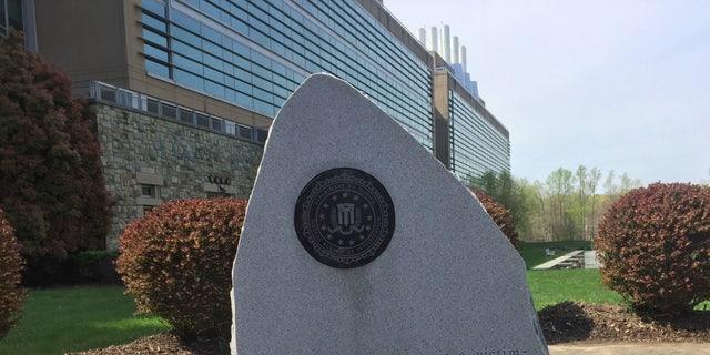 A memorial stone outside of the FBI Laboratory division building at Marine Corps Base Quantico, VA. (Fox News/Alex Diaz) 