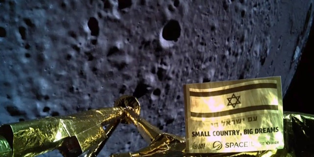 Beresheet snapped this selfie moments before communication with the spacecraft was lost.