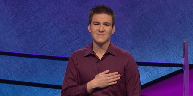 James Holzhauer competing on 'Jeopardy!' on April 9, 2019.