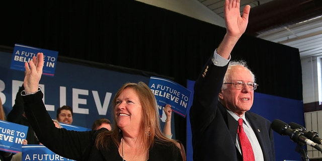FILE: Democratic presidential candidate Sen. Bernie Sanders (D-VT) and his wife, Jane O'Meara Sanders, wave as they are introduced during an Elko Town Meeting on February 19, 2016 in Elko, Nevada. (Photo by Joe Raedle/Getty Images)