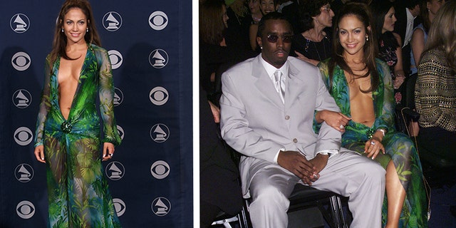 Jennifer Lopez and Sean 'Diddy' Combs. (Photo by Scott Gries/ImageDirect)