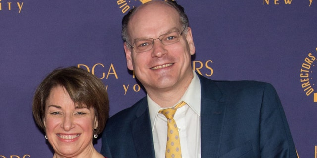 Amy Klobuchar and John Bessler attend the 2018 Directors Guild of America Honors at DGA Theater on October 18, 2018 in New York City. (Photo by Mark Sagliocco/WireImage)