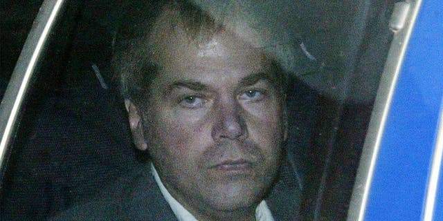 John Hinckley Jr. arrives at U.S. District Court in Washington in this file photo.