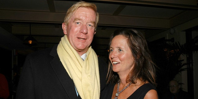 FILE: William Weld and Leslie Marshall attend GREY GARDENS Opening Night Party at The Boathouse in Central Park on November 2, 2006 in New York City. (Photo by Patrick McMullan/Patrick McMullan via Getty Images)