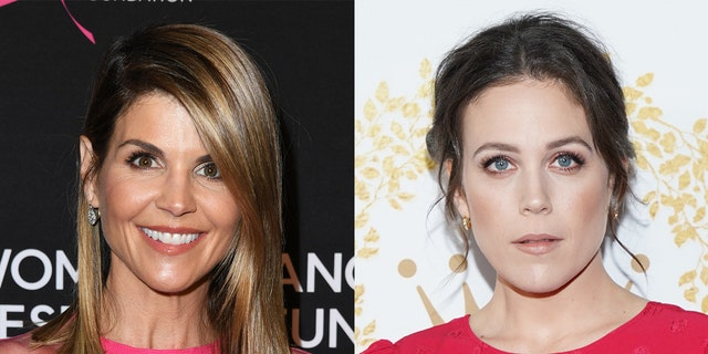 "Lori Loughlin (left) and Loughlin-Krakow (right) co-starred on Hallmark's ""When  Calls the Heart"" together."