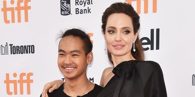 Angelina Jolie and her son Maddox Jolie-Pitt.