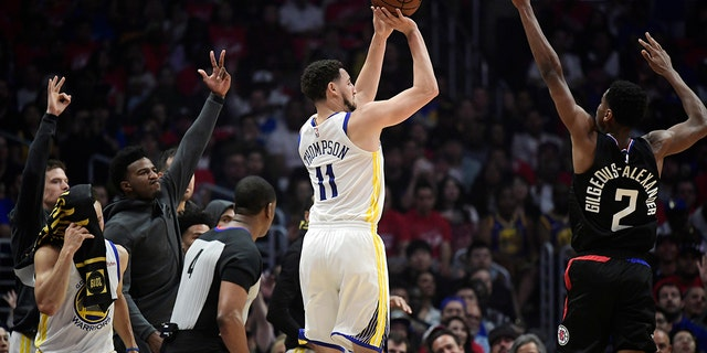 Pairing Thompson with Luka Doncic could make the Mavericks a contender in the Western Conference. (AP Photo/Mark J. Terrill)
