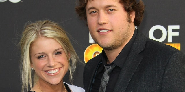 Matthew and Kelly Stafford helped local charities. (Photo by David Livingston/Getty Images)