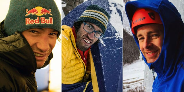 From left: David Lama, Hansjörg Auer, and Jess Roskelley were presumed dead.