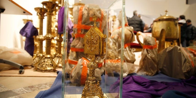 Westlake Legal Group Notre-Dame-Artifacts-1-Getty Hero priest saves precious artifacts from Notre Dame Cathedral fire, but the fate of many treasures remains unknown Lukas Mikelionis fox-news/world/world-regions/france fox-news/world/world-regions/europe fox-news/world/religion/christianity fox-news/world/religion fox news fnc/world fnc article 2a359d1a-4de1-506e-a334-757457149dbe