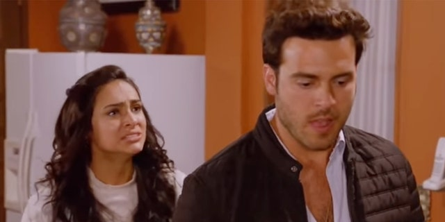 "Pablo Lyle (Rodrigo), right, in a scene of ""Mi Adorable Maldición."""