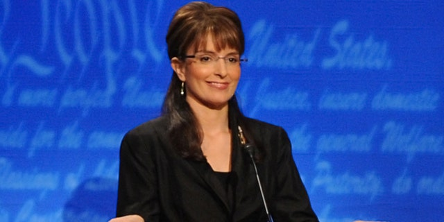 Tina Fey as Governor Sarah Palin during the 'Vice Presidential Debate' skit on October 4, 2008.