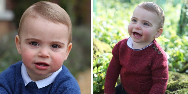 The photos, which were taken by the prince's mother, Kate Middleton, show off the prince's two bottom teeth that have grown in so far.