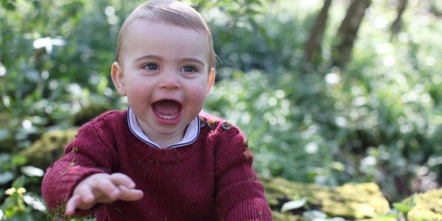 The day before Prince Louis' first birthday, Kensington Palace released new photographs of the young royal on Twitter.