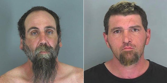 Christian Hulburt (left) and Jonathan Galligan (right) were arrested and charged Saturday with the killings of two women after their bodies were discovered buried on a property in Spartanburg, S.C., on Friday.
