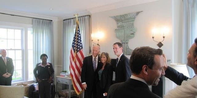 A picture of Biden at the 2009 fundraiser. (Amy Lappos)