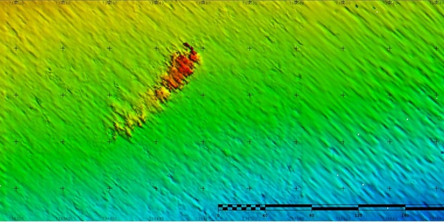 A map showing the position of SS Iron Crown on the seafloor. (CSIRO)