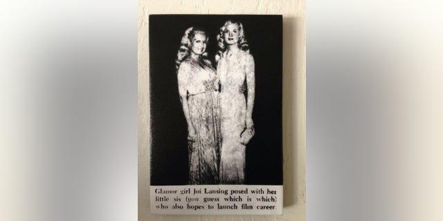 """Joi Lansing (left) with """"sister"""" Rachel Lansing."""