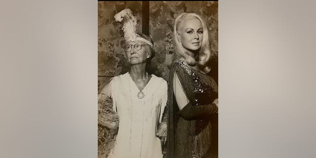 """Joi Lansing with """"granny"""" on """"The Beverly Hillbillies."""""""