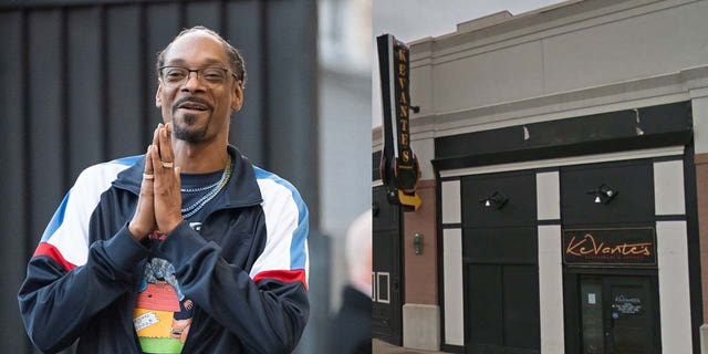 Fast forward to this week, and the sweet serenade captured at KeVante's caught the attention of stars including comedian Justin Whitehead, Kandi Burruss and Snoop Dogg (pictured left.)
