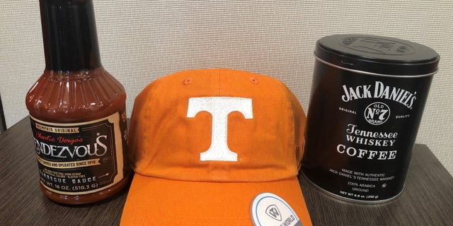The National Republican Congressional Committee sent the congresswoman a goody bag containing coffee infused with Jack Daniel's Tennessee Whiskey, Memphis-style BBQ sauce, and a hat of the Tennessee Volunteers.