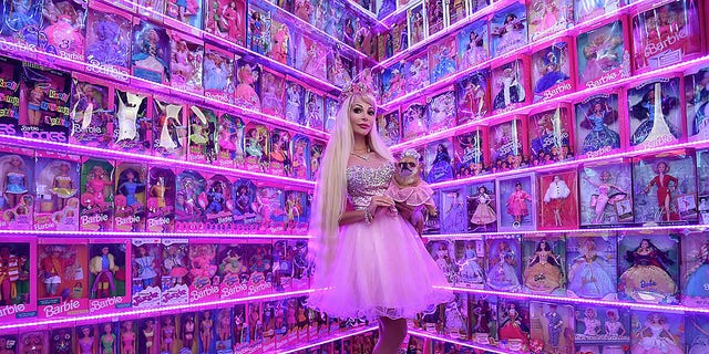 Tuzova, 32, wants to claim the world record for largest Barbie collection.