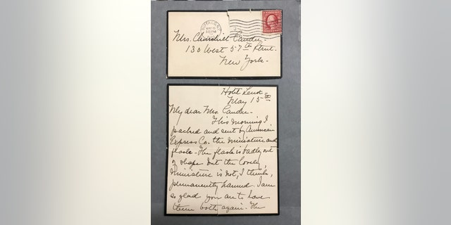 The letter to Helen Churchill Candee written by Edward Kent's sister. (Henry Aldridge and Son)