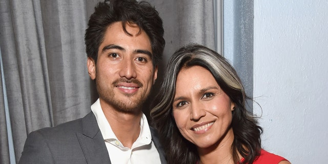Abraham Williams (L) and Tulsi Gabbard attend the Sean Penn CORE Gala benefiting the organization formerly known as J/P HRO & its life-saving work across Haiti & the world at The Wiltern on January 5, 2019 in Los Angeles, California. (Photo by Michael Kovac/Getty Images for CORE, formerly J/P HRO )