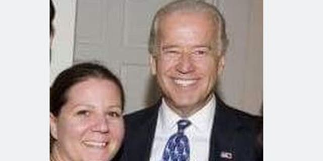 Amy Lappos tells Fox News this photo shows her with Joe Biden at the fundraiser in 2009. (Amy Lappos)