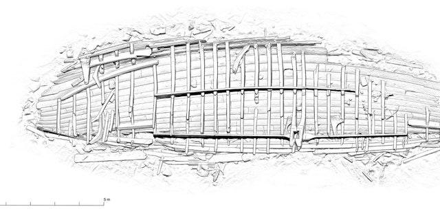 A diagram of the shipwreck. (Massimiliano Ditta)