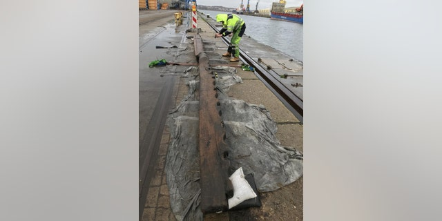 The ship's timbers were perfectly preserved, according to archaeologists. (Landesamt für Kultur und Denkmalpflege Mecklenburg-Vorpommern)